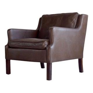 Børge Mogensen-style Danish Leather Lounge Chair
