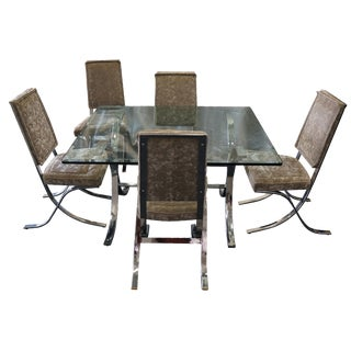 Mid Century Modern Barcelona Style Dining Set of 6