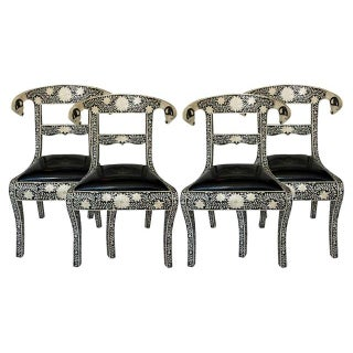 Anglo-Indian Bone Inlay Chairs- Set of 4
