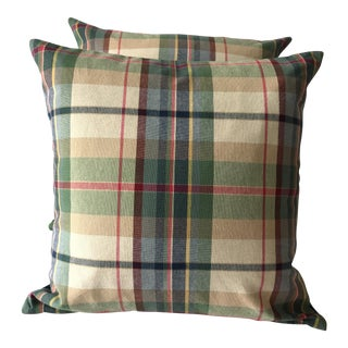 Plaid Pendleton Pillow Covers - A Pair