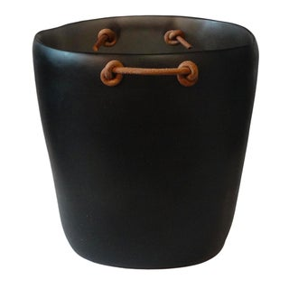 Resin Champagne Bucket with Leather Handles