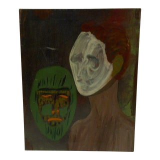 """Original """"The Ghost & the Mask"""" Painting"""
