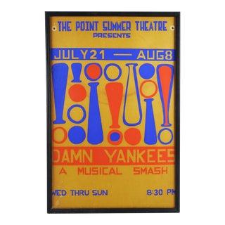 "Summer Theater Poster ""Damn Yankees"" Serigraph"
