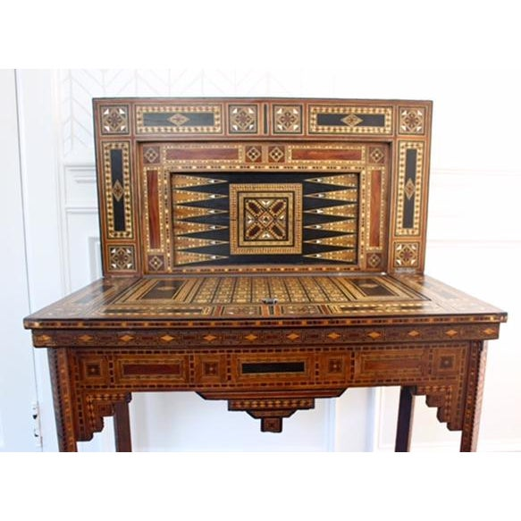 Image of Antique Syrian Inlaid Game Table