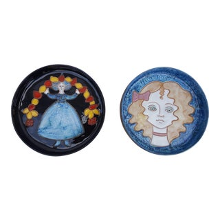 Azaila Art Handmade Decorative Ceramic Wall Hangings - A Pair
