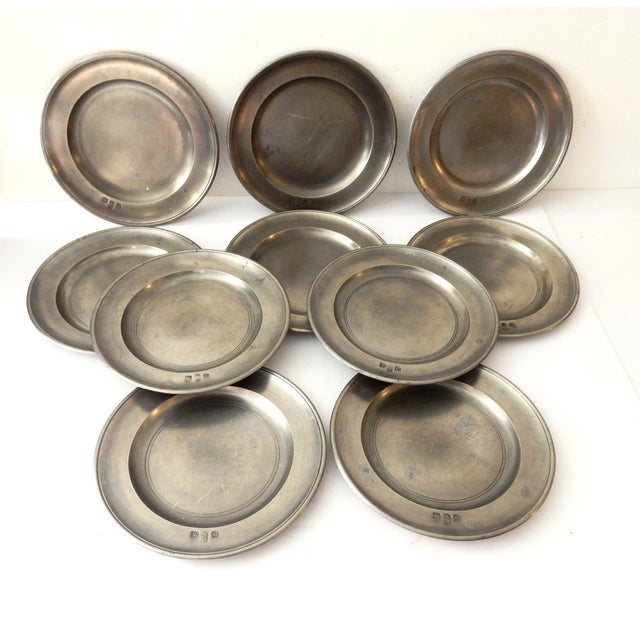 Traditional Pewter Sous Plats - Set of 10 - Image 3 of 9