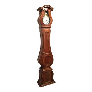 18th Century French Louis XV Carved Walnut Grandfather Clock with Rooster