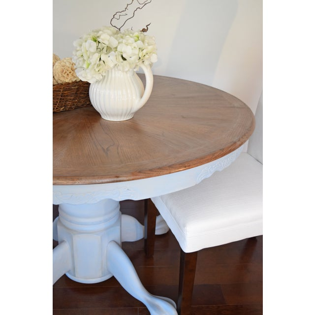 Chalk Painted French Country Dining Table - Image 4 of 7