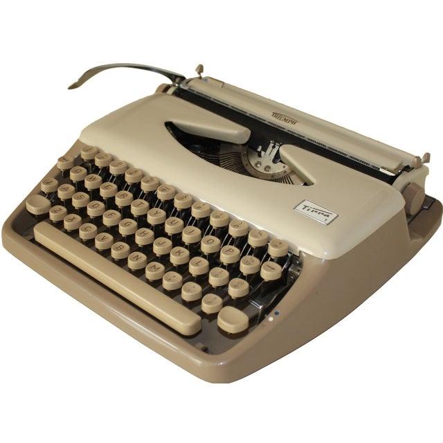 Vintage 1965 Triumph Tippa Beige Typewriter - Image 1 of 9