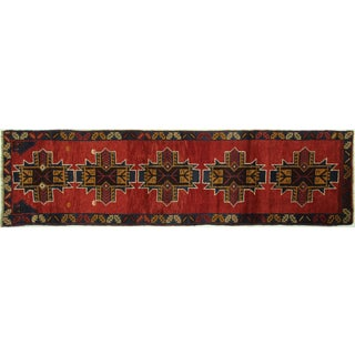 "Persian Baluch Red Geometric Rug - 2'6"" x 9'5"""