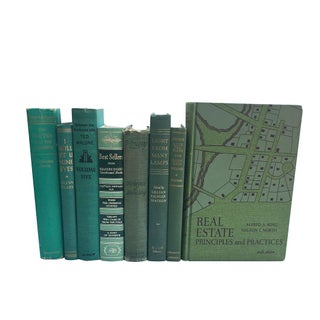 Vintage Green Book Collection - Set of 8