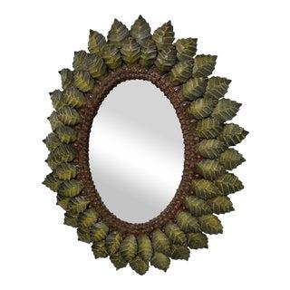 Hand Forged Leaf Metal Mirror
