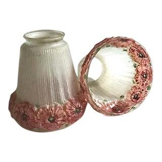 Circa 1920s Victorian Lamp Shades - A Pair