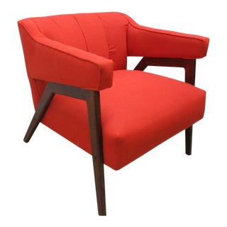 Mid-Century Design Danish Modern Orange Lounge Club Chair