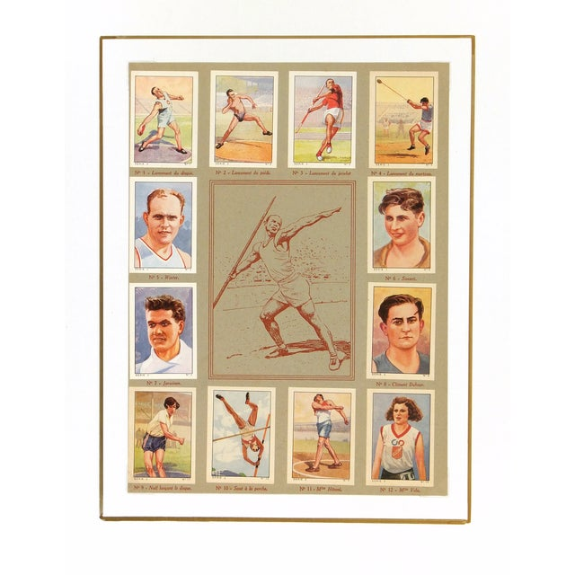 Image of Vintage Athletics Print, France 1937