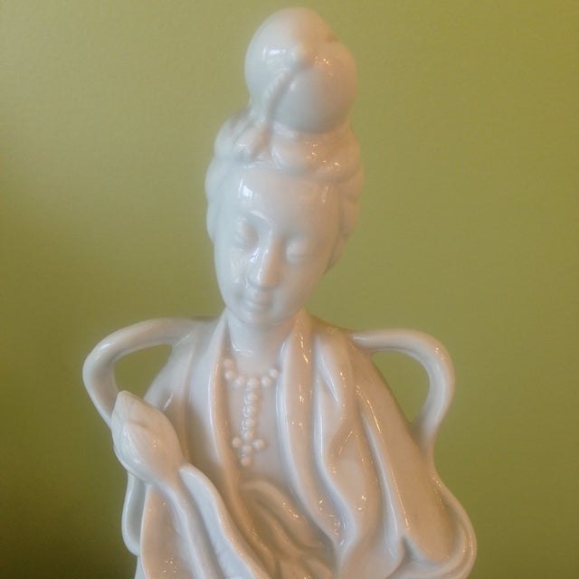 Image of Blanc De Chine Asian Figurines - A Pair