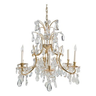 Gold and Glass Chandelier