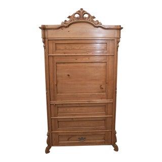 Pine Single-Door Armoire