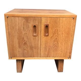Teak Cabinet Side Table
