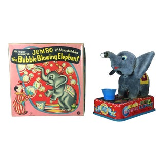 Vintage Jumbo the Bubble Blowing Elephant Toy
