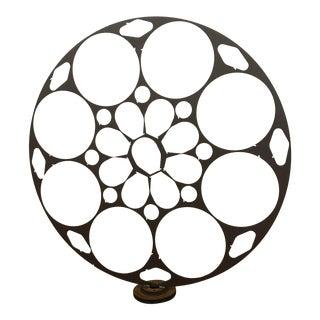 Iron Floral Disc Sculpture