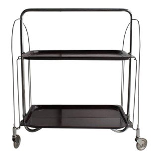 Mid-Century German Collapsible Serving Bar Cart