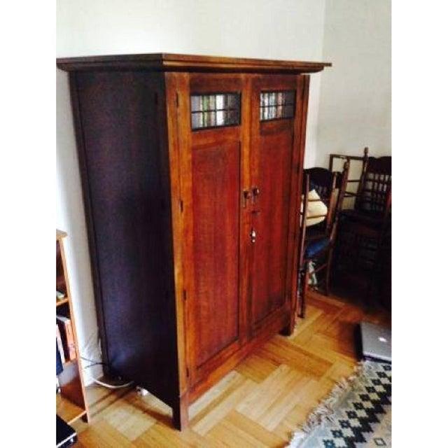 Crate & Barrel Arts & Crafts Armoire Media Cabinet | Chairish