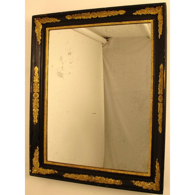 Black & Gold Empire Mirror - Image 2 of 6
