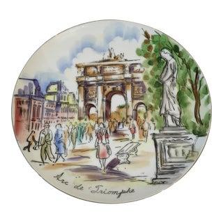 Arc De Triomphe Hand Painted Plate