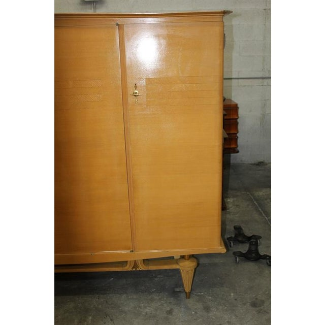 French Art Deco Sycamore Armoire - Image 6 of 7