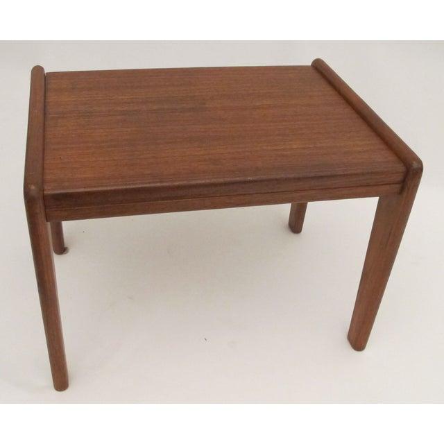1960s Danish Teak Wood Stool - Image 3 of 4