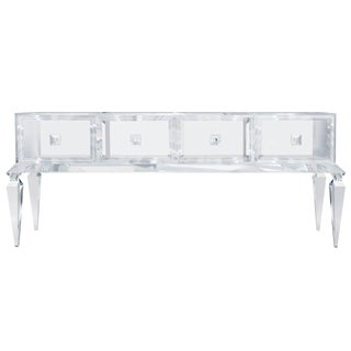Customizable Four Drawer Lucite Credenza / 1704