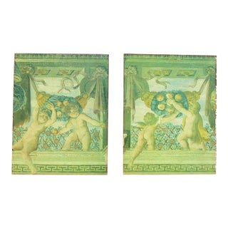 Vintage Neoclassical Frieze Painting Giclee - A Pair