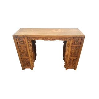 Vintage Asian Carved Desk