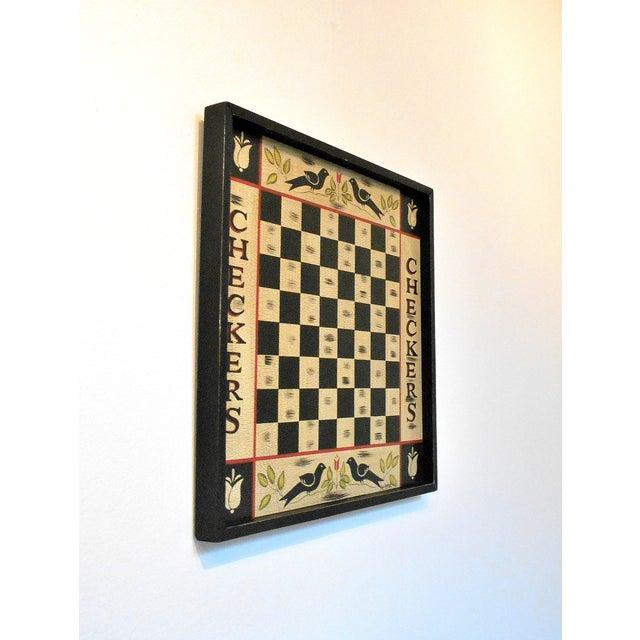 Image of Vintage Blackbird Checkerboard Wall Art
