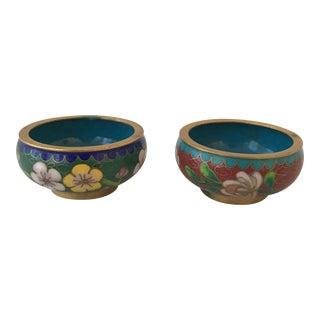 Cloisonné Mini Bowls - A Pair