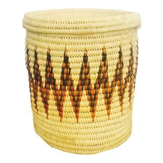 Large Vintage Coil Basket or Hamper