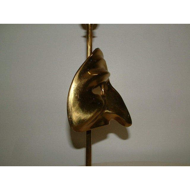 Commedia Dell'Arte Brass Mask Table Lamp - Image 7 of 9
