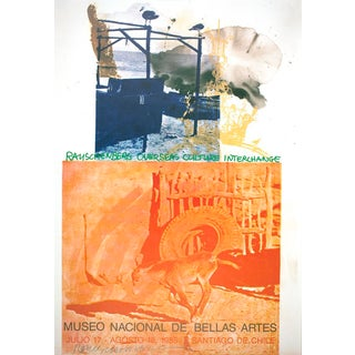 "Robert Rauschenberg ""Roci: Chile"" 1985 Signed Exhibiton Poster"