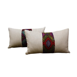 Kilim Band Kidney Pillow - Single Pillow