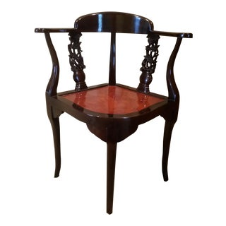 Queen Ann Carved Wooden Corner Chair