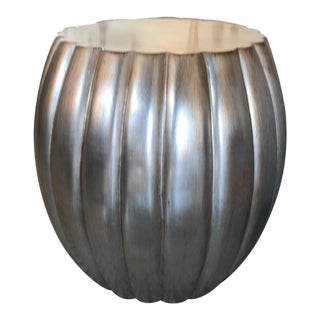 "Silver Finish ""Melon"" Side Table"