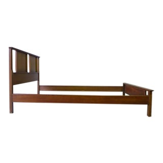 Mid Century Modern Walnut Twin Bed