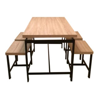 Delano Stool Seat Dining Set