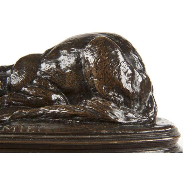 Emmanuel Fremiet Bronze Sculpture of a Fox - Image 7 of 10