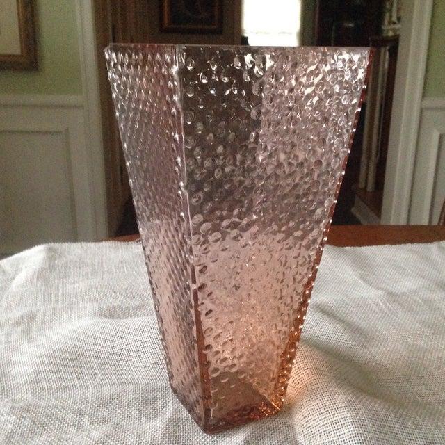 Vintage Pink Glass Hobnail Vase - Image 3 of 11