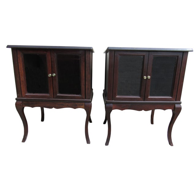 French Provincial Apartment Nightstands - Pair - Image 1 of 7