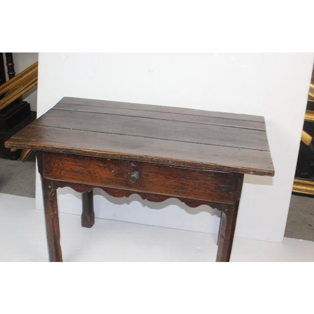 French Provincial Side Table with Drawer - Image 6 of 6