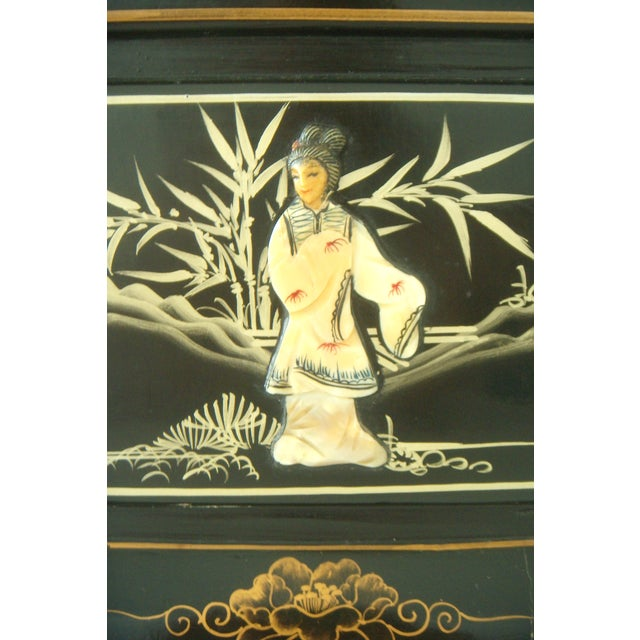 Vintage Lacquered Chinese Lanterns - Pair - Image 5 of 9