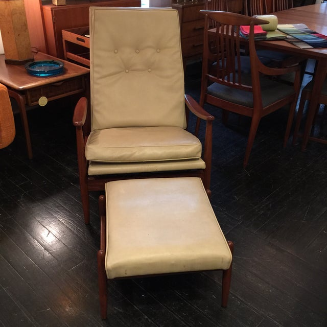 Image of Milo Baughman Recliner And Ottoman Set